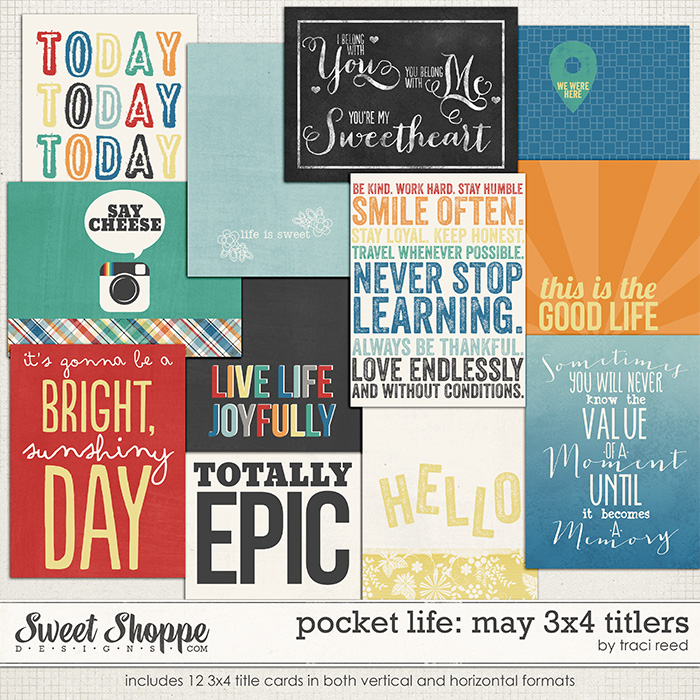 Pocket Life: May 3x4 Titlers by Traci Reed