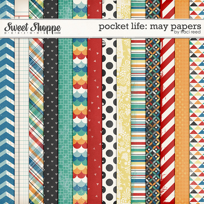 Pocket Life: May Digital Papers by Traci Reed