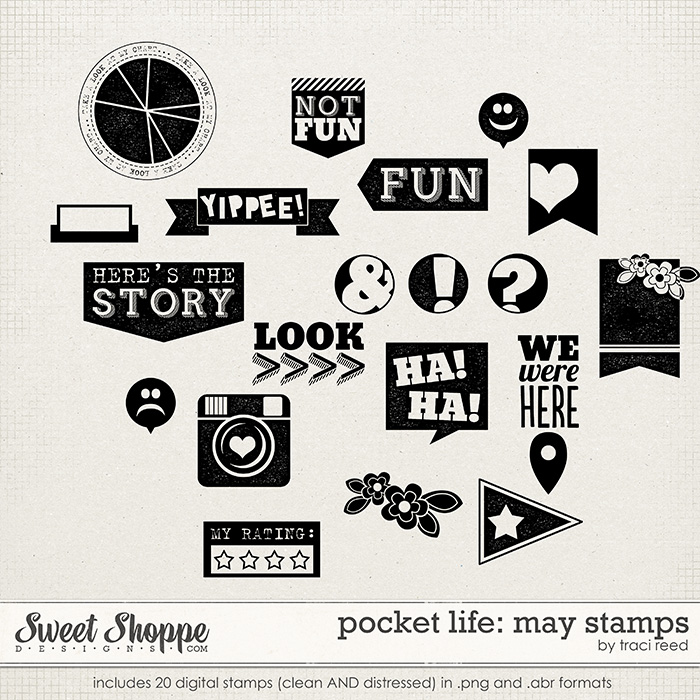 Pocket Life: May Stamps by Traci Reed