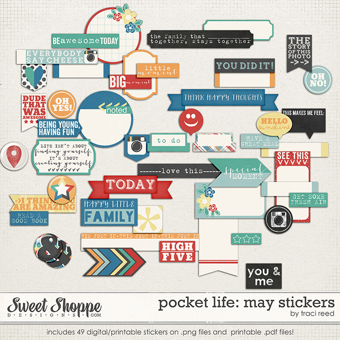 Pocket Life: May Stickers by Traci Reed