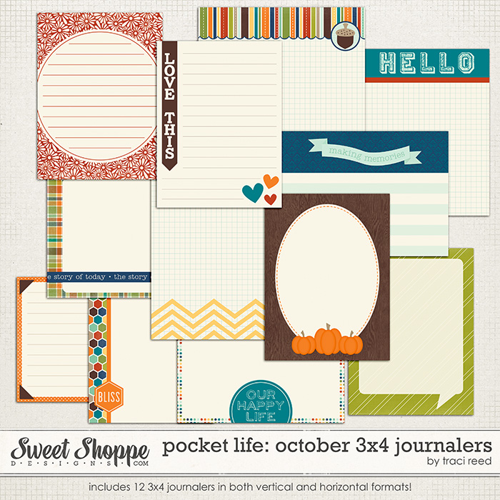 Pocket Life: October 3x4 Journalers by Traci Reed