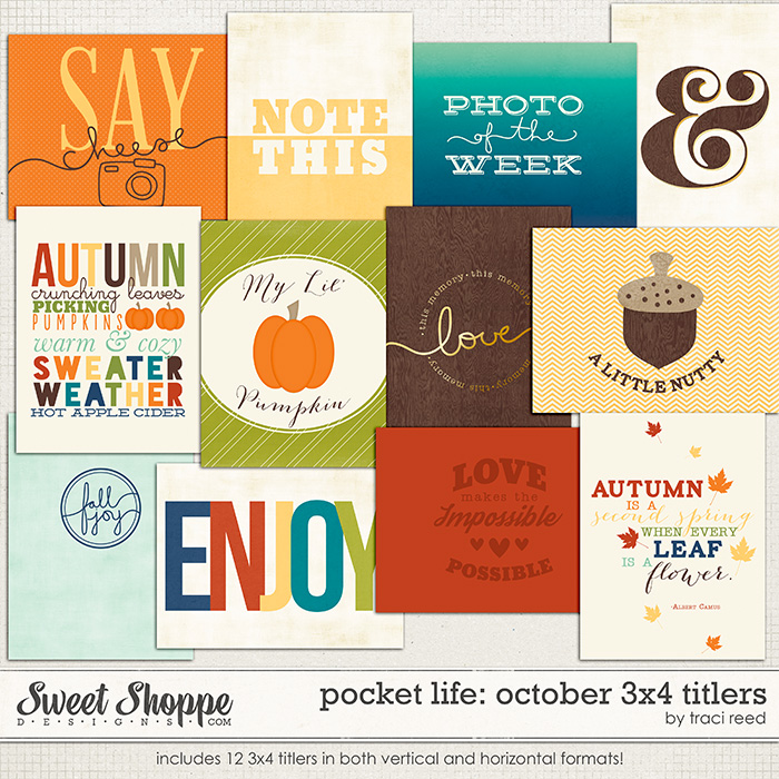 Pocket Life: October 3x4 Titers by Traci Reed