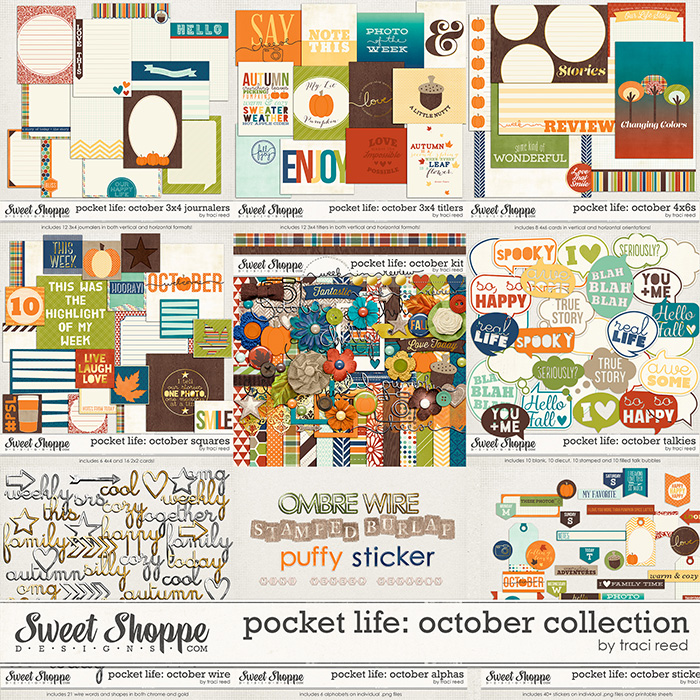 Pocket Life: October Collection by Traci Reed