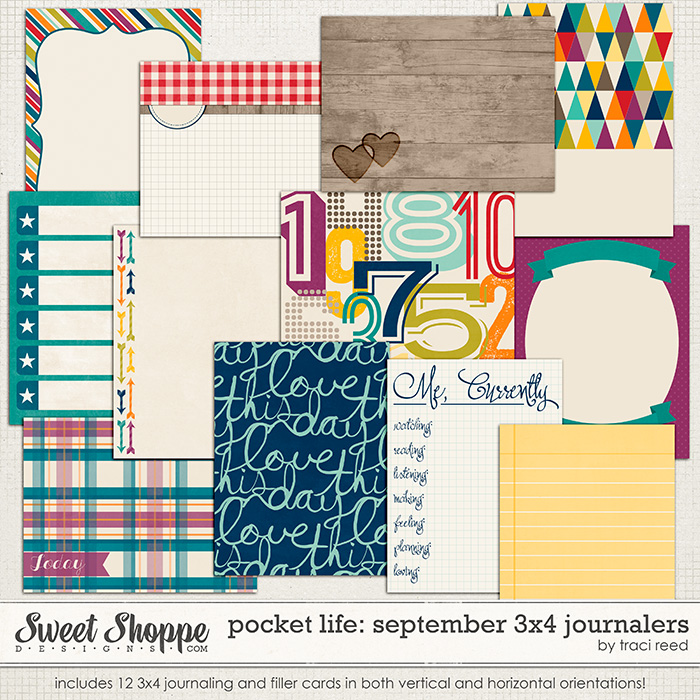Pocket Life: September 3x4 Journalers by Traci Reed