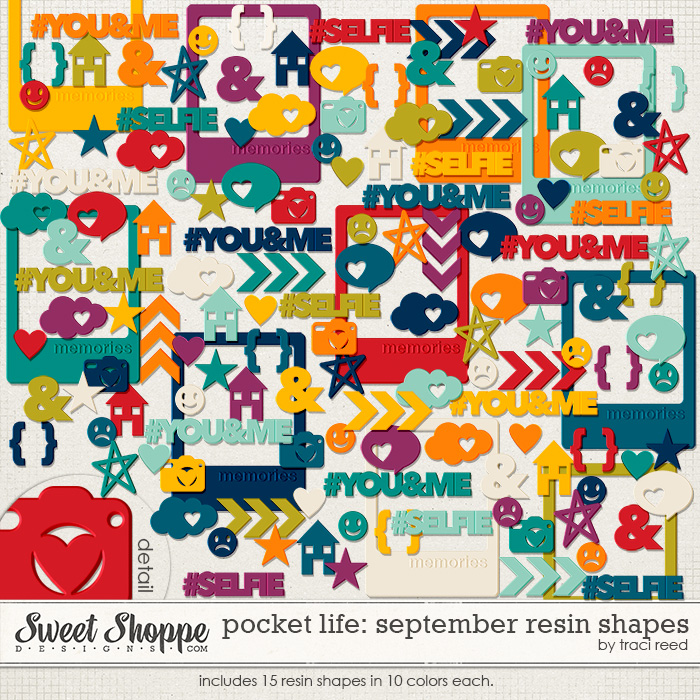 Pocket Life: September Resin Bits by Traci Reed
