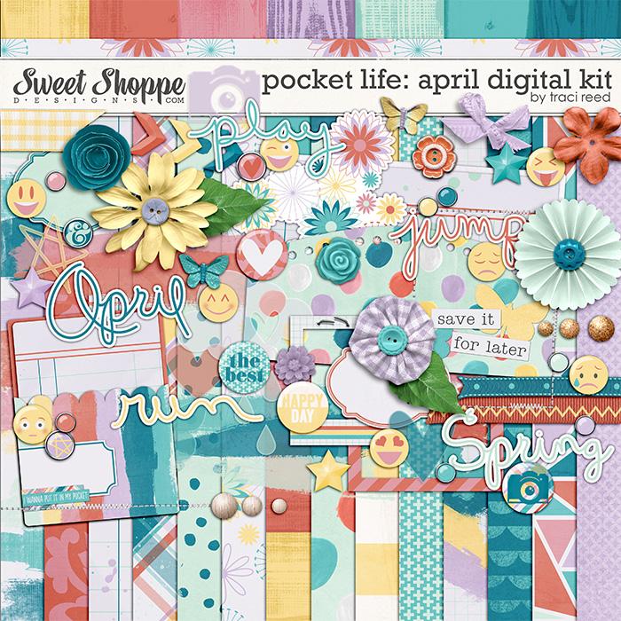 Pocket Life: April Digital Kit by Traci Reed