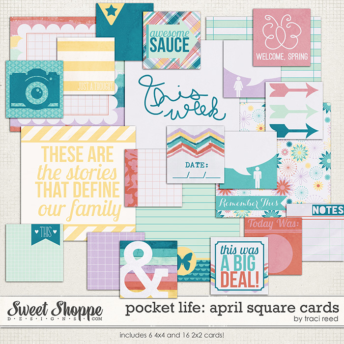Pocket Life: April Squares by Traci Reed
