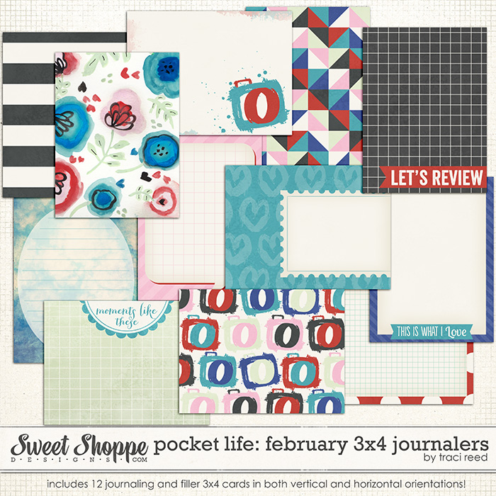 Pocket Life: February 3x4 Journalers by Traci Reed