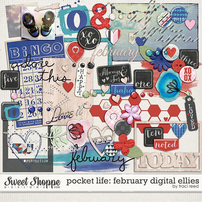 Pocket Life: February Digital Embellishments by Traci Reed