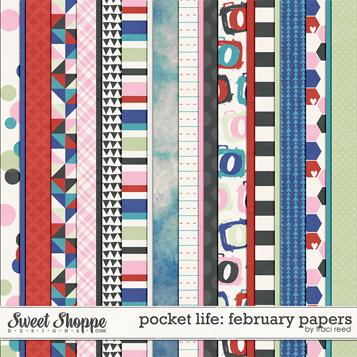Pocket Life: February Papers by Traci Reed
