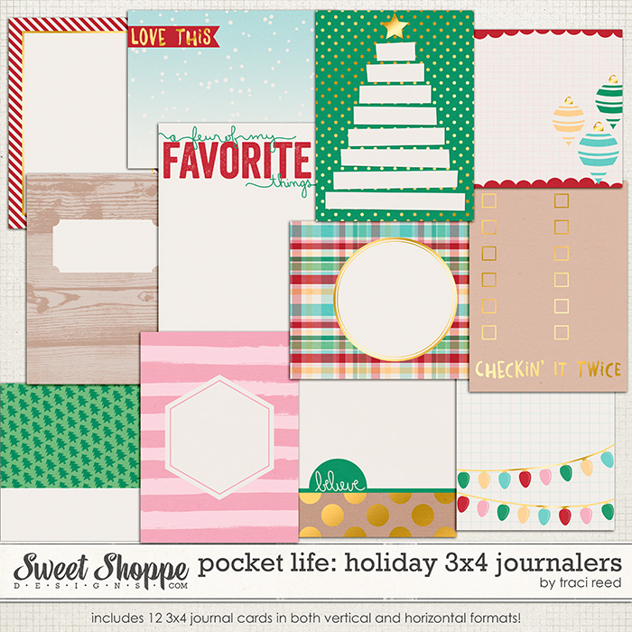 Pocket Life: Holiday 3x4 Journalers by Traci Reed