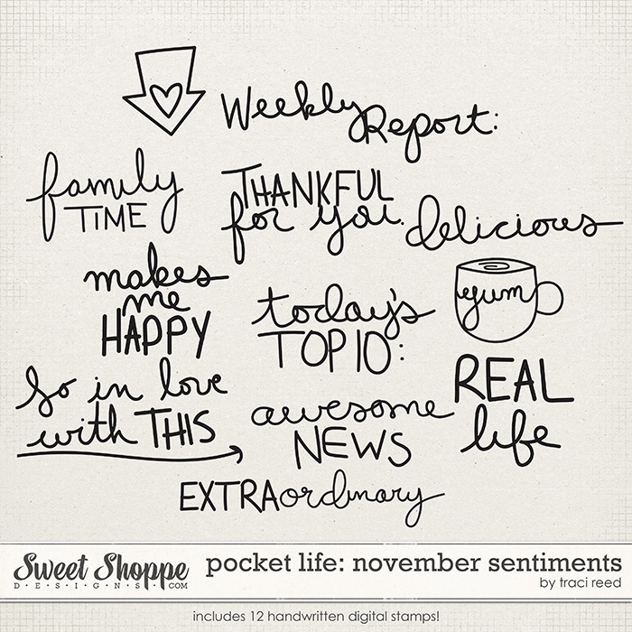 Pocket Life: November Sentiments by Traci Reed