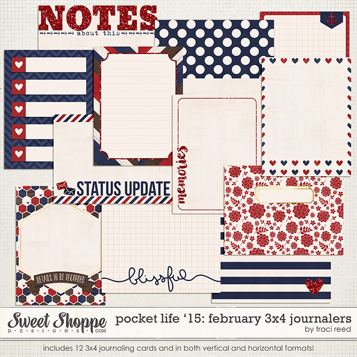 Pocket Life '15: February 3x4 Journalers by Traci Reed