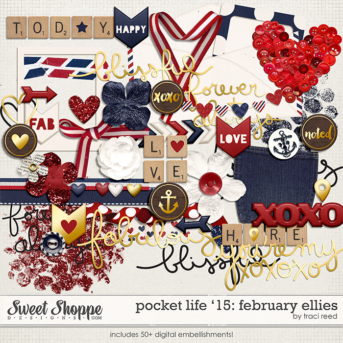 Pocket Life '15: February Ellies by Traci Reed