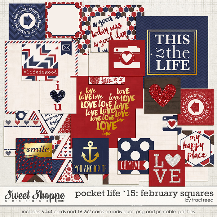 Pocket Life '15: February Squares by Traci Reed