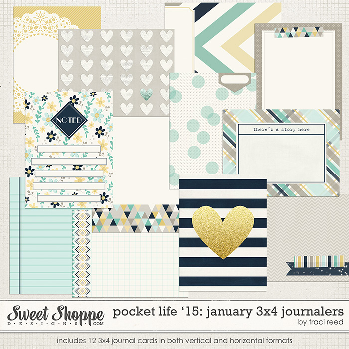 Pocket Life '15: January 3x4 Journalers by Traci Reed