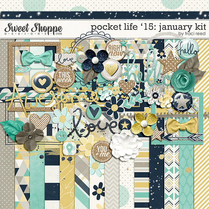 Pocket Life '15: January Kit by Traci Reed