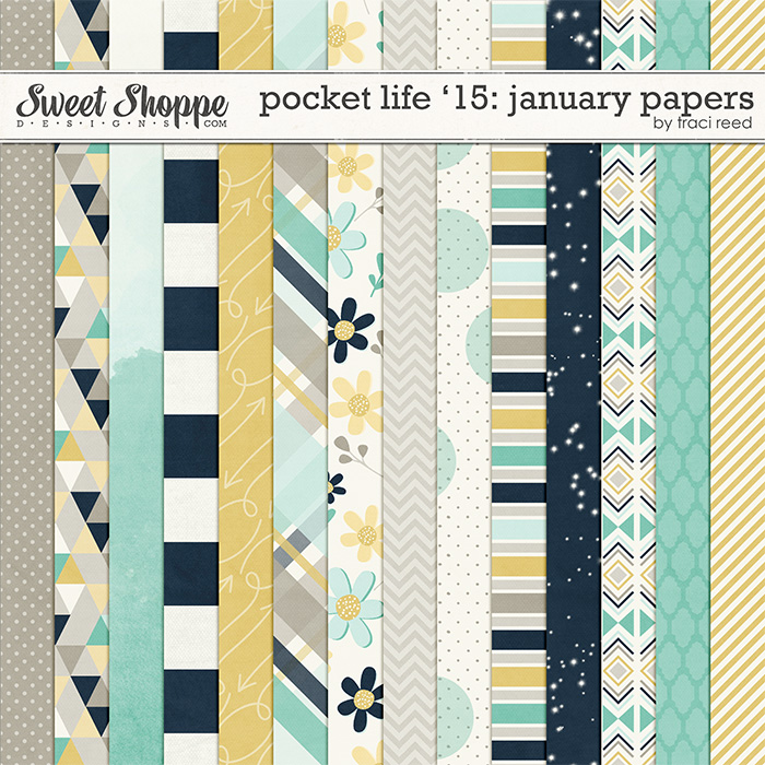 Pocket Life '15: January Papers by Traci Reed