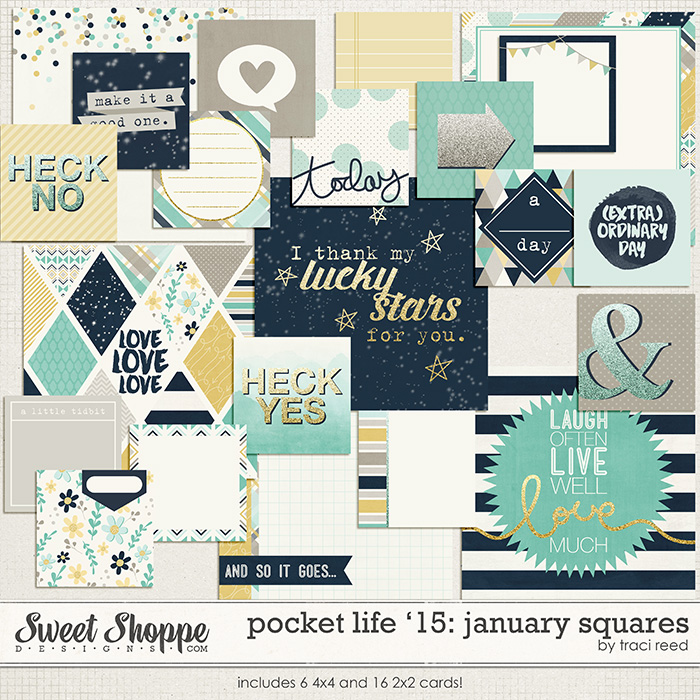 Pocket Life '15: January Squares by Traci Reed
