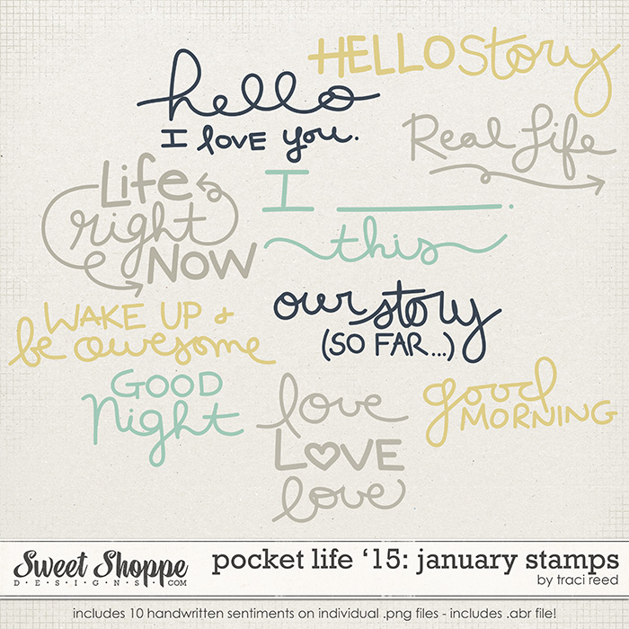 Pocket Life '15: January Stamps by Traci Reed