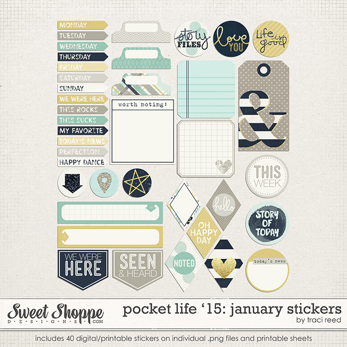 Pocket Life '15: January Stickers by Traci Reed