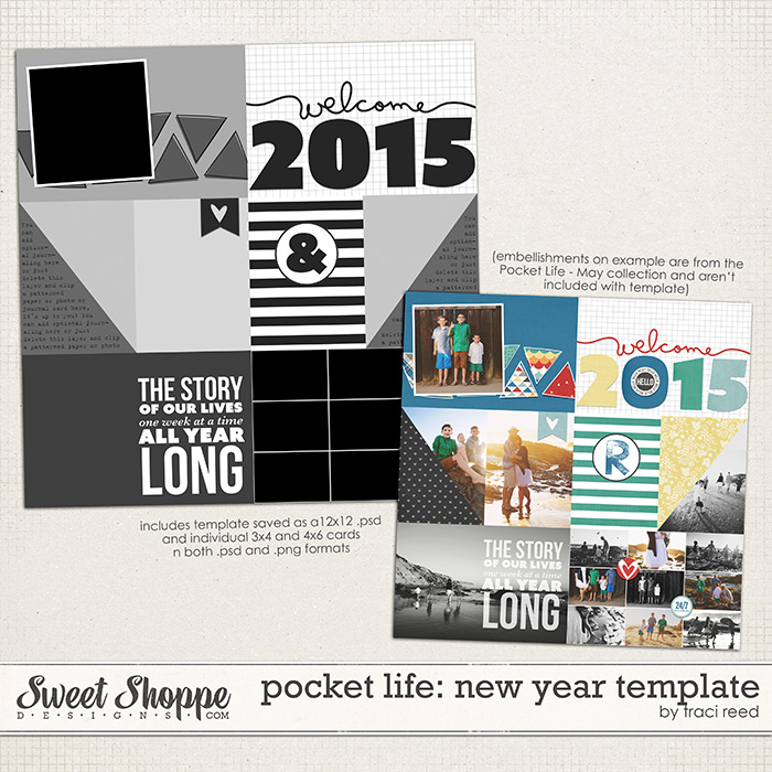 Pocket Life: New Year Template by Traci Reed