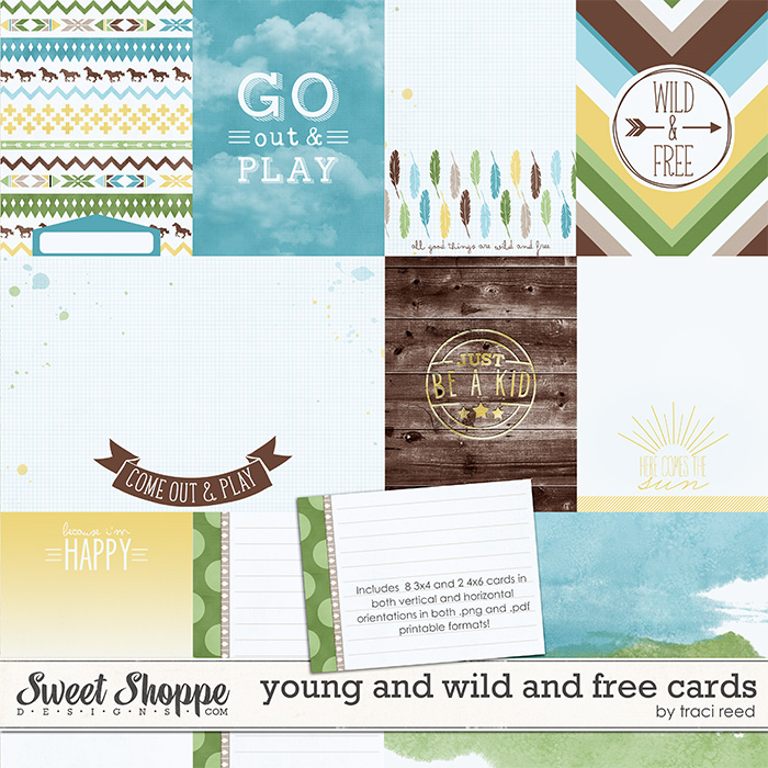 Young and Wild and Free Journaling Cards by Traci Reed