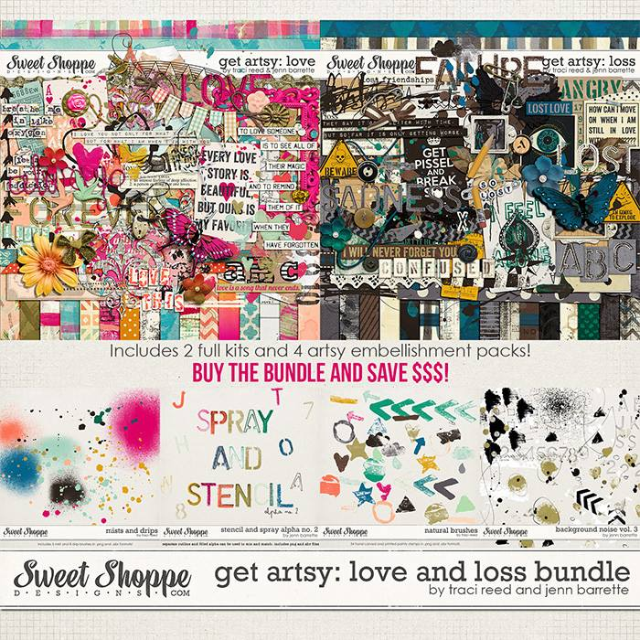 Get Artsy: Love and Loss Bundle by Traci Reed and Jenn Barrette