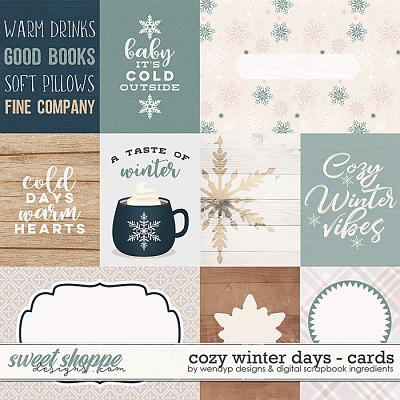 Cozy winter days - cards by Digital Scrapbook Ingredients & WendyP Designs