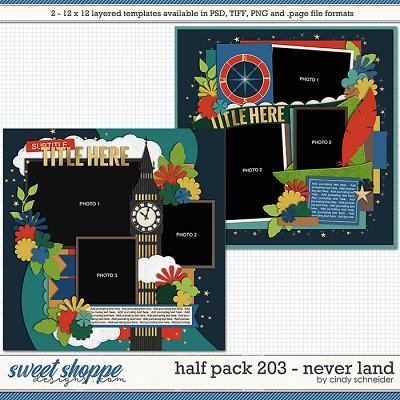 Cindy's Layered Templates - Half Pack 203: Never Land by Cindy Schneider