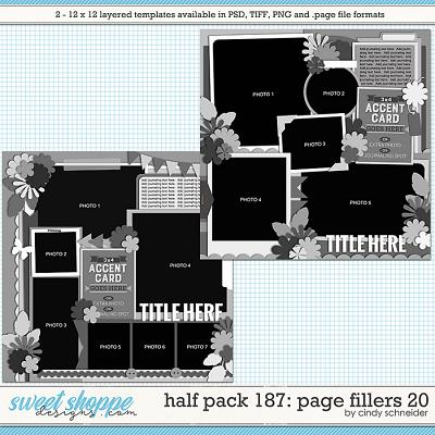 Cindy's Layered Templates - Half Pack 187: Page Fillers 20 by Cindy Schneider