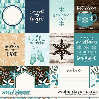 Winter Days | Cards by Digital Scrapbook Ingredients