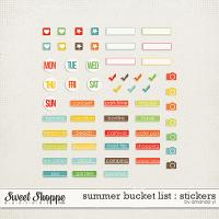 Summer Bucket List : Stickers by Amanda Yi