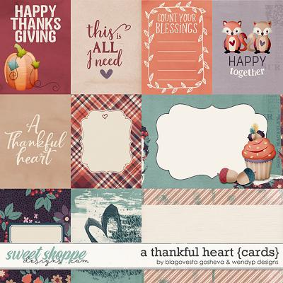 A thankful heart {cards} by Blagovesta Gosheva & WendyP Designs