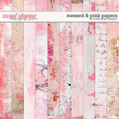 Messed and Pink Papers by Studio Basic