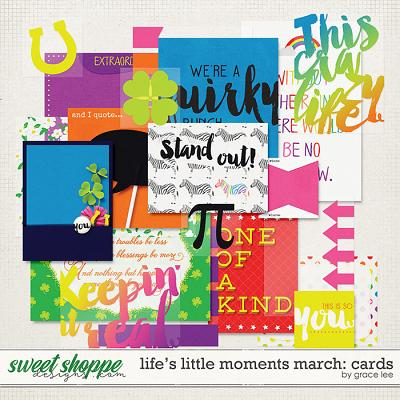 Life's Little Moments March Cards by Grace Lee