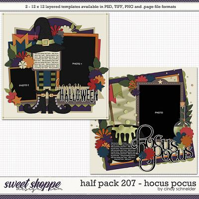 Cindy's Layered Templates - Half Pack 207: Hocus Pocus by Cindy Schneider