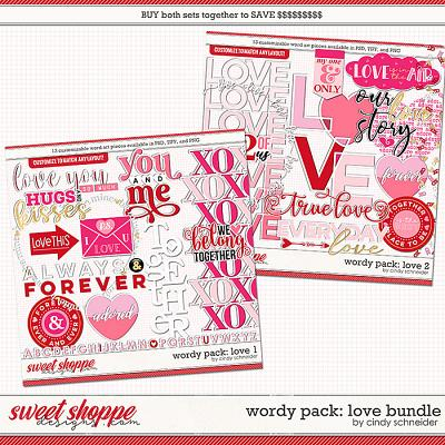 Cindy's Wordy Pack: Love Bundle by Cindy Schneider