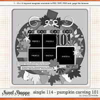 Cindy's Layered Templates - Single 114: Pumpkin Carving 101 by Cindy Schneider
