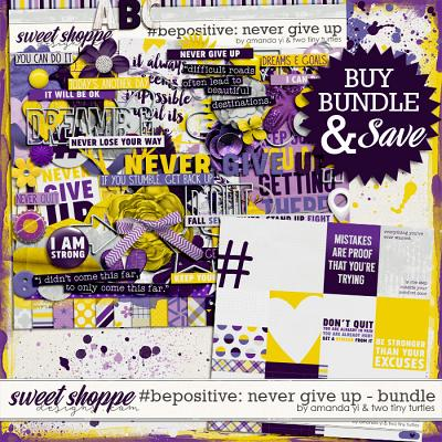 #Be Positive: Never Give Up Bundle by Amanda Yi & Two Tiny Turtles