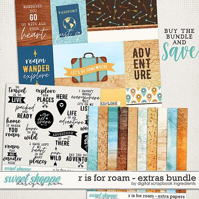 R is for Roam | Extras Bundle by Digital Scrapbook Ingredients
