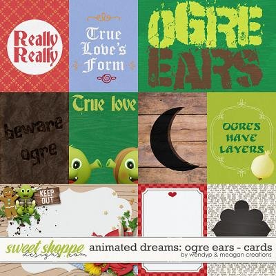 Animated Dreams: Ogre ears - cards by Meagan's Creations & WendyP Designs