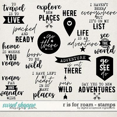 R is for Roam | Stamps by Digital Scrapbook Ingredients