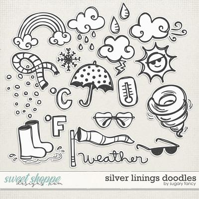 Silver Linings Doodles by Sugary Fancy