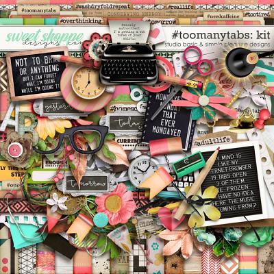 #toomanytabs Kit by Simple Pleasure Designs and Studio Basic