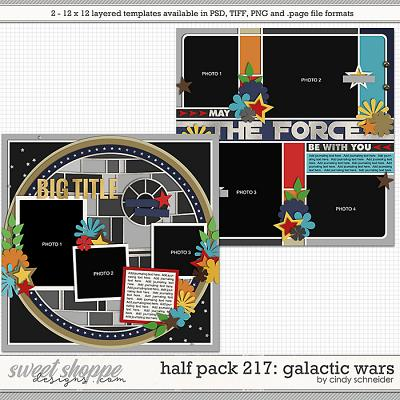 Cindy's Layered Templates - Half Pack 217: Galactic Wars by Cindy Schneider