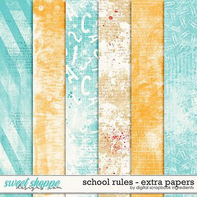 School Rules | Extra Papers by Digital Scrapbook Ingredients