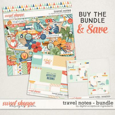 Travel Notes Bundle by Digital Scrapbook Ingredients