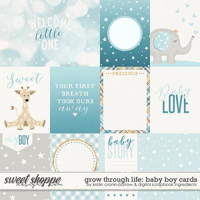 Grow Through Life - Baby Boy | Cards by Kristin Cronin-Barrow & Digital Scrapbook Ingredients