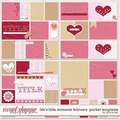 Life's Little Moments February Pocket Templates by Grace Lee